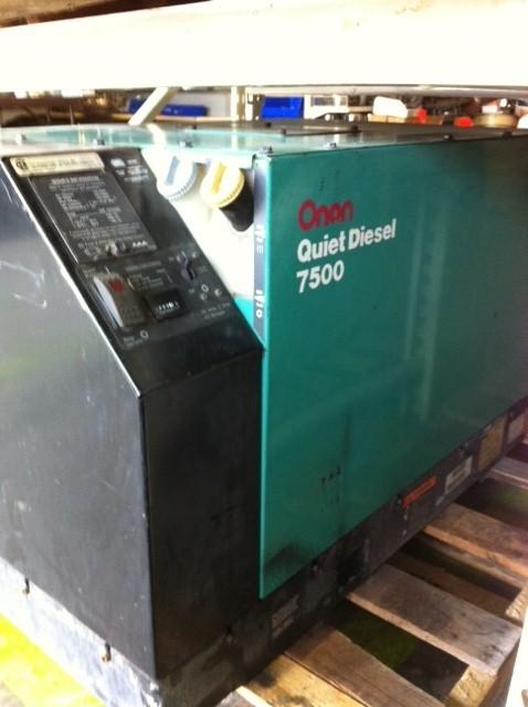 Rv Diesel Generator >> Used Onan 7 5 Quite Diesel Rv Generator For Sale